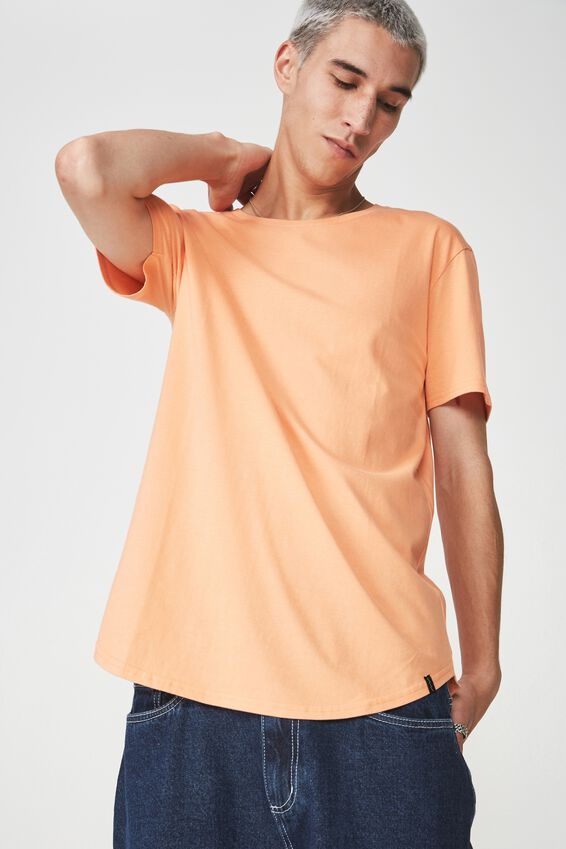 Curved T Shirt, DUSTY ORANGE