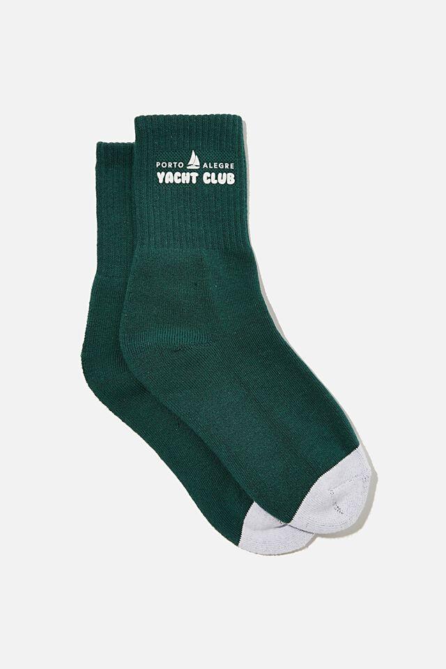 Retro Sport Sock, YACHT CLUB HUNTER GREEN