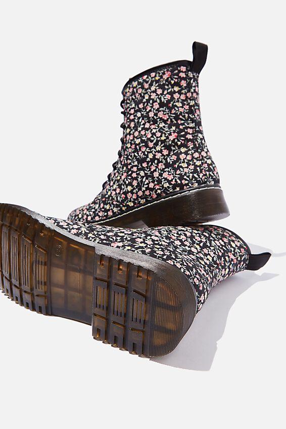 Combat Boot, BLACK DITSY