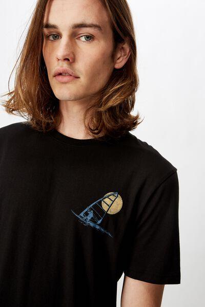 Slim Graphic T Shirt, BLACK/MIRAGE