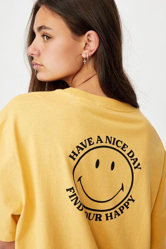 Smiley License Tee, LCN SMI CHALK YELLOW/SMILEY