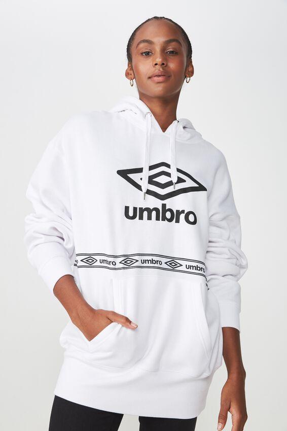 Umbro Lcn Oversized Hoodie, WHITE