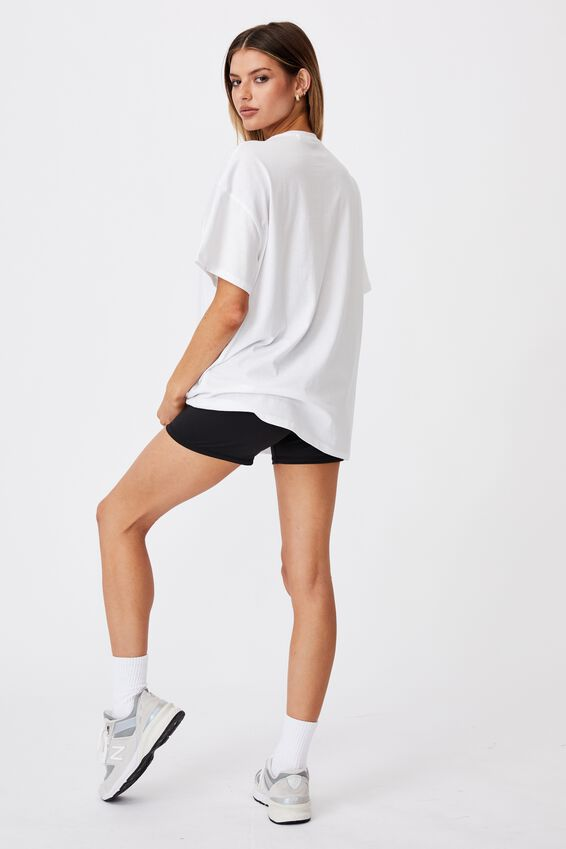 Super Relaxed Graphic Tee, WHITE/PASADENA