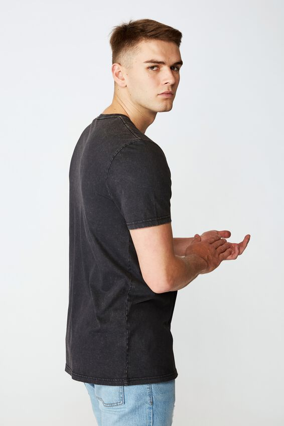 Slim Graphic T Shirt, WASHED BLACK/SPRINT