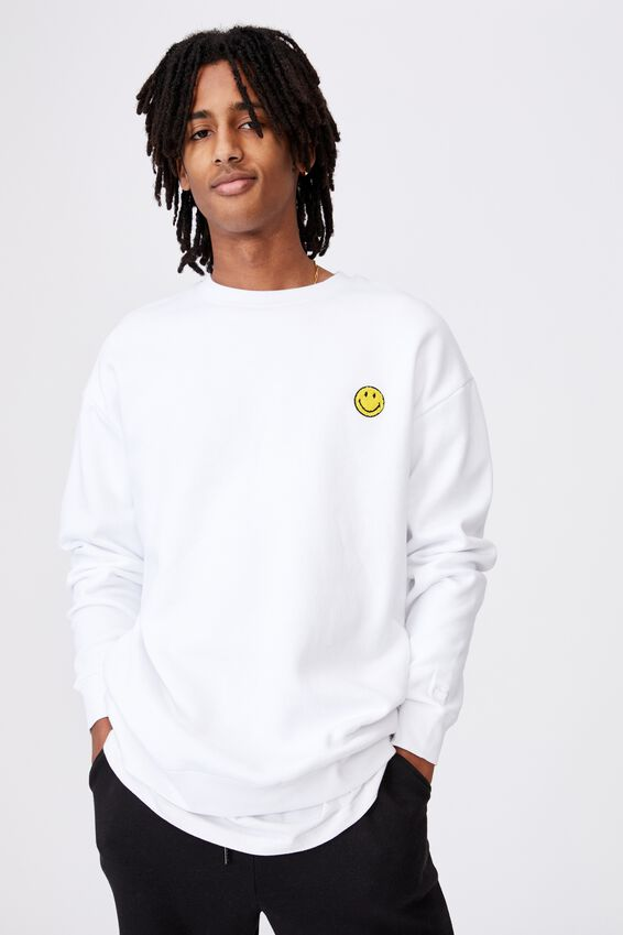 Smiley License Crew, WHITE