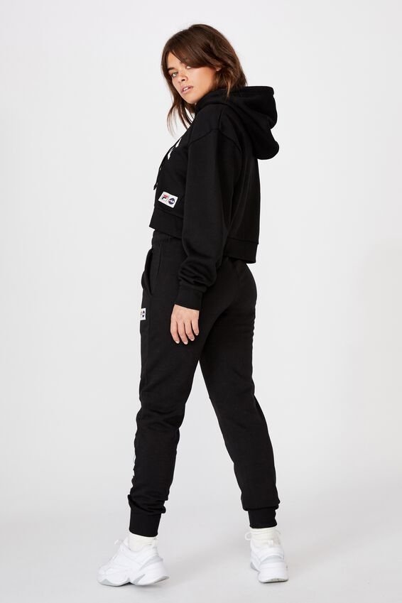 Fila Lcn Cropped Hoodie, BLACK/WHITE