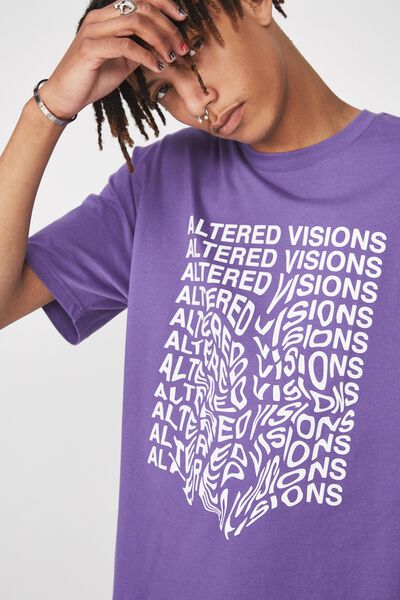 Graphic T Shirt, ULTRA VIOLET/ALTERED VISIONS