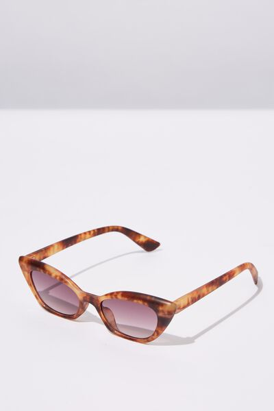 Kitty Cateye Sunglasses, M. TORT_SMK