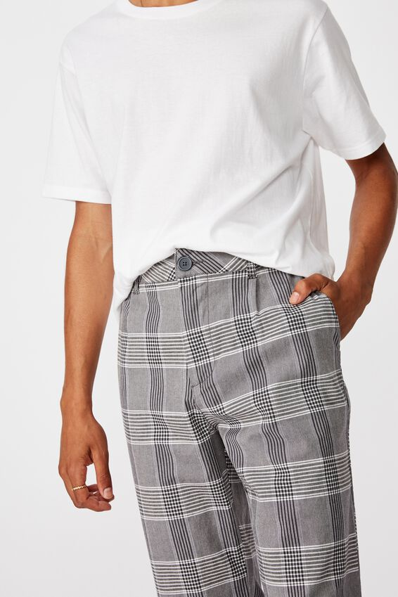 Relaxed Tapered Leg Pant, CAMDEN CHECK
