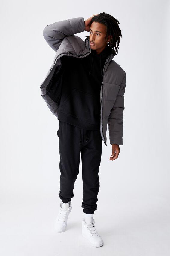 Puffer Jacket, CHARCOAL