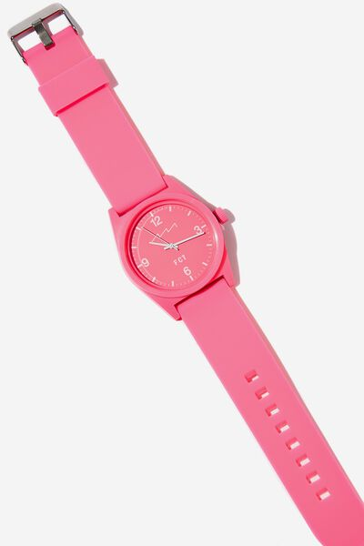 Silicone Watch, NEON PINK
