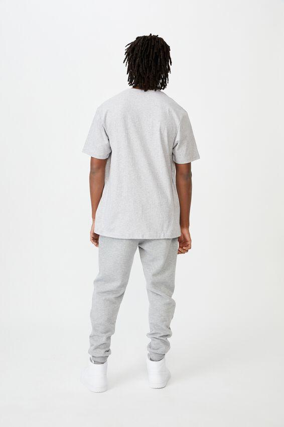 Regular License T Shirt, LIGHT GREY MARLE/GIANTS