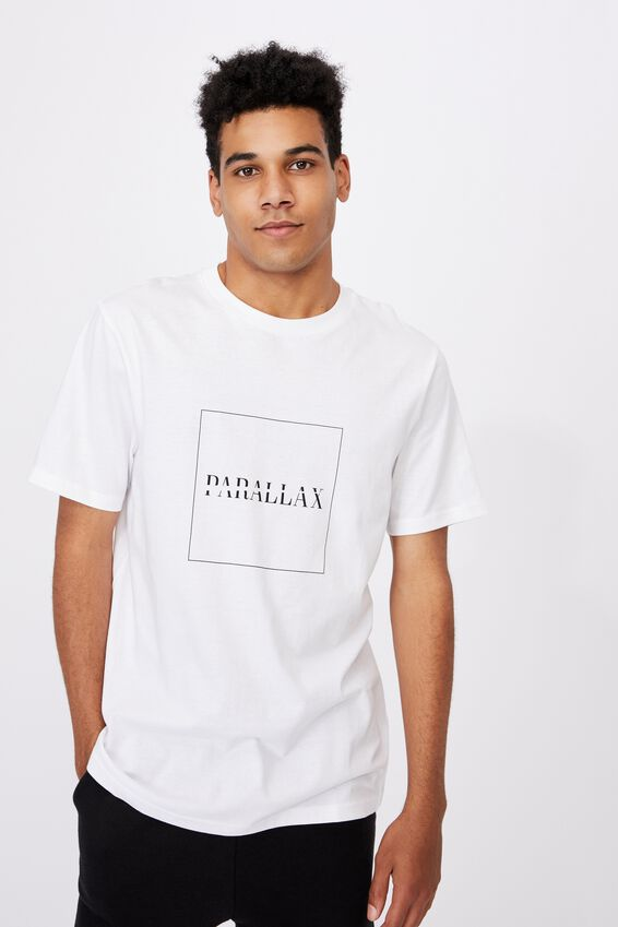 Regular Graphic T Shirt, WHITE/PARALLAX