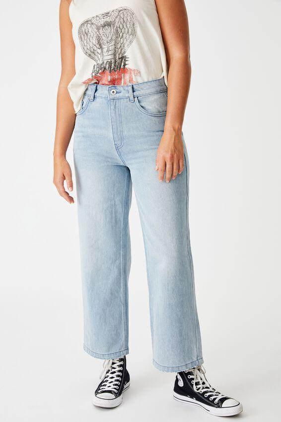Wide Leg Jean, WASHED BLUE