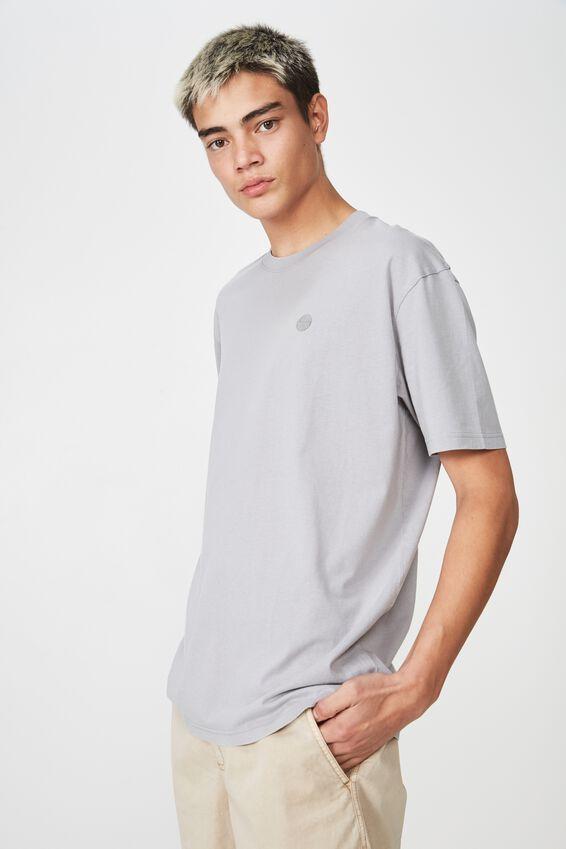 Embroided Washed T Shirt, SLEET/SUNRISE