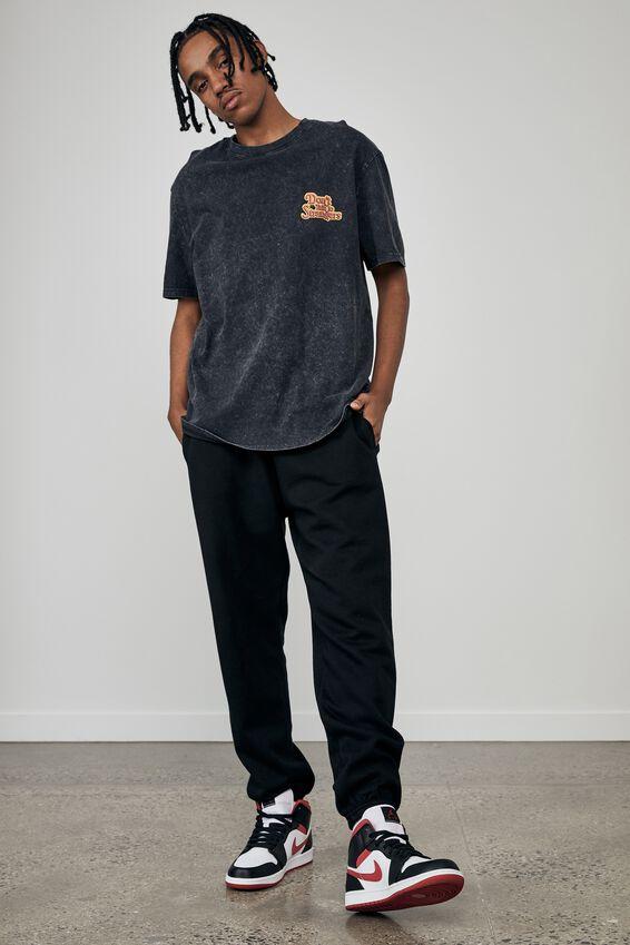 Regular Pop Culture T Shirt, LCN STE WASHED BLACK/RHODES STRANGERS
