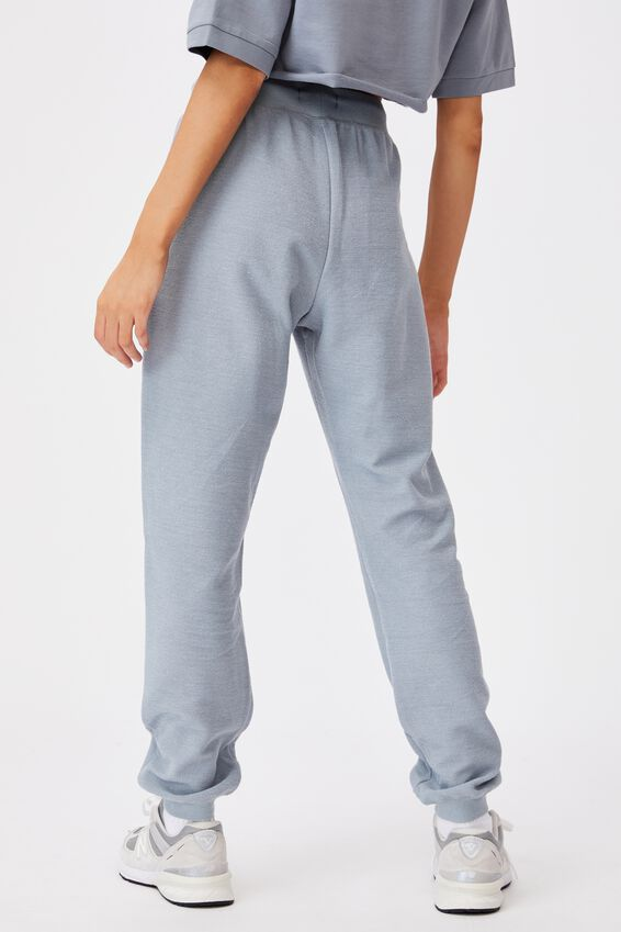 Reverse French Terry Slim Fit Trackpant, FOG GREY