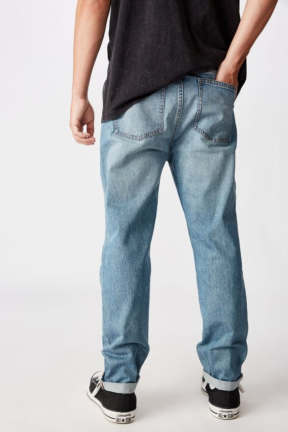 Relaxed Tapered Jean, MID BLUE