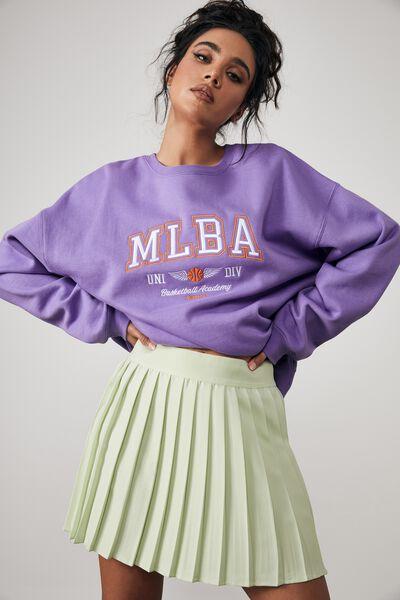 Mini Pleat Skirt, PISTACHIO