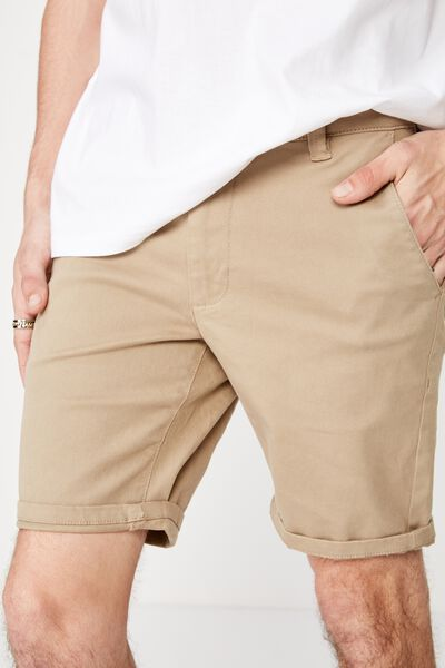 Twill Tapered Short, STONE
