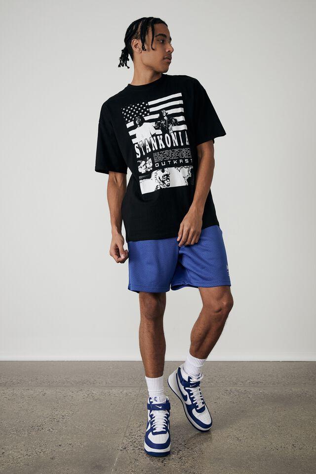 Oversized Music Merch T Shirt, LCN MT BLACK/OUTKAST STANKONIA