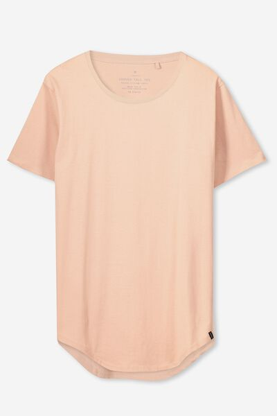 The Curved Tall Tee, MISTY ROSE