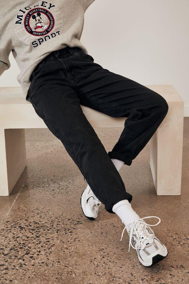 Slouchy Jean, THRIFT BLACK