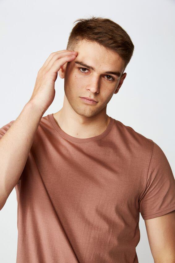 Curved T Shirt, NUT MEG