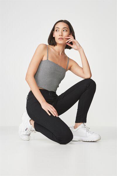 The Mid-Rise Skinny Jean, BLACK