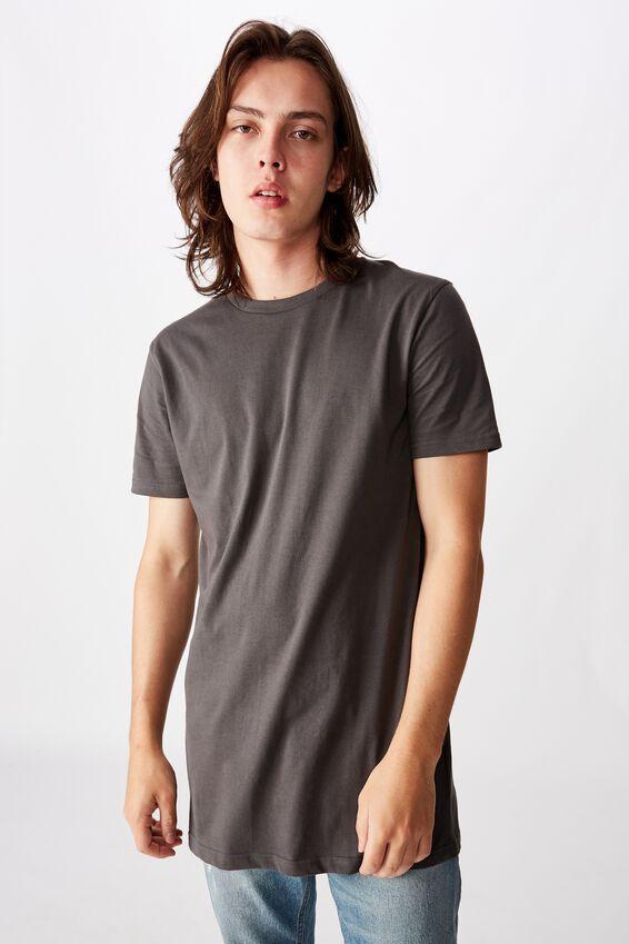 Longline T Shirt, ASPHALT