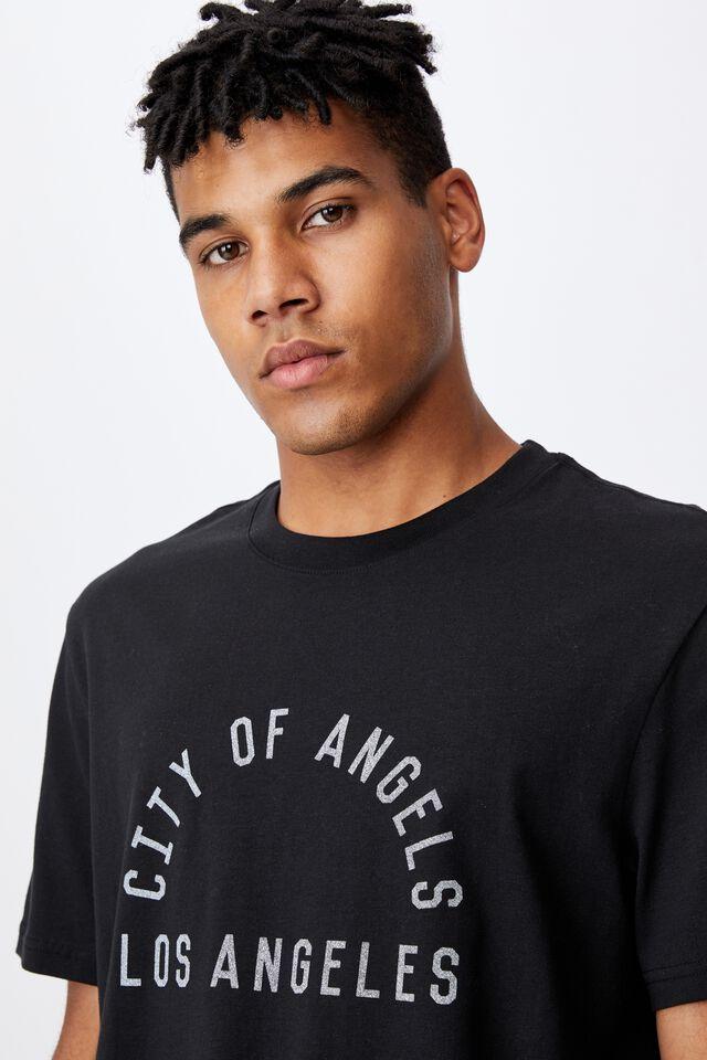 Regular Graphic T Shirt, BLACK/CITY OF LA
