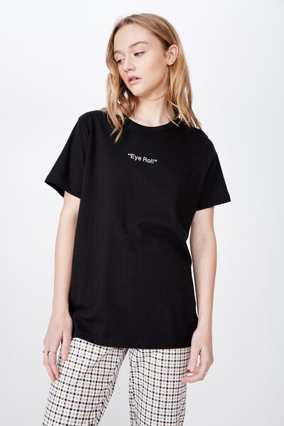 Relaxed Graphic T Shirt, BLACK/EYE ROLL