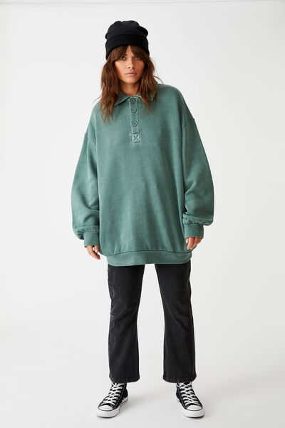Os Collared Crew, WASHED FOREST KHAKI