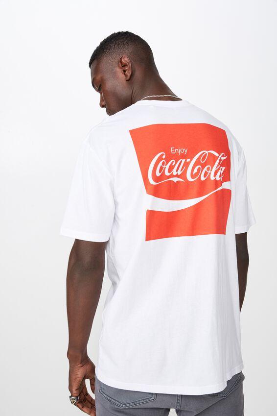 License T Shirt, WHITE/COCA COLA