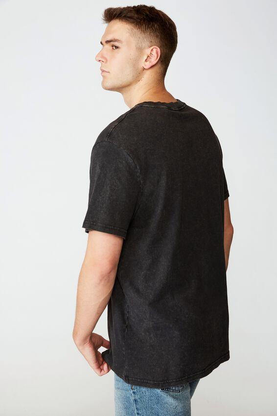 Regular Graphic T Shirt, WASHED BLACK NY LIBERTY