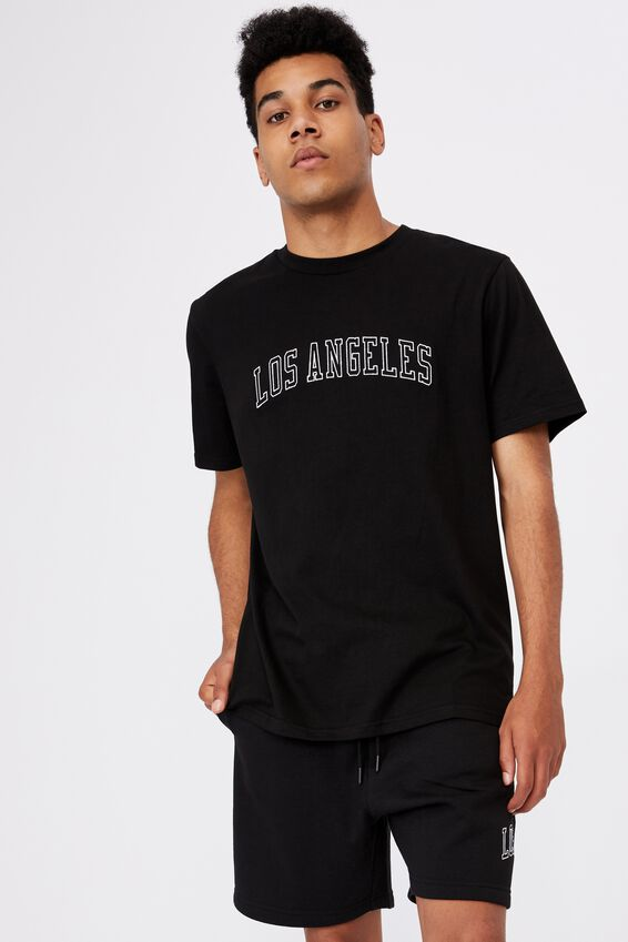 Regular Graphic T Shirt, BLACK/LOS ANGELES
