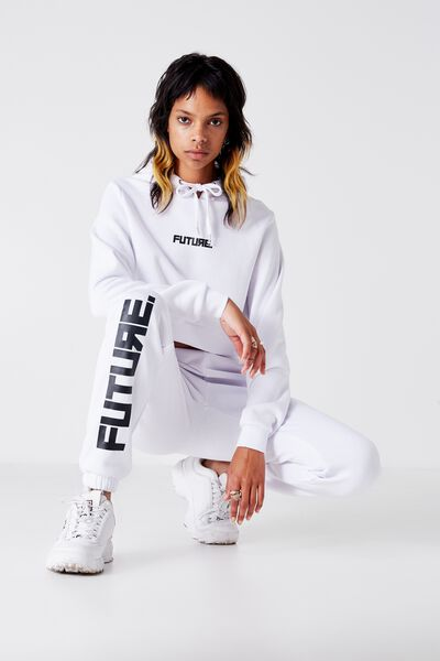 Core Printed Trackpant, OPTIC WHITE_FUTURE