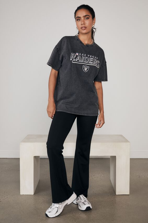 Lcn Super Relaxed Nfl Graphic Tee, LCN NFL WASHED BLACK/RAIDERS