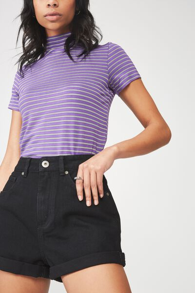Mom Short 3, BLACK