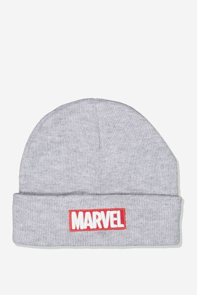 Lcn Marvel Beanie, GREY_RED