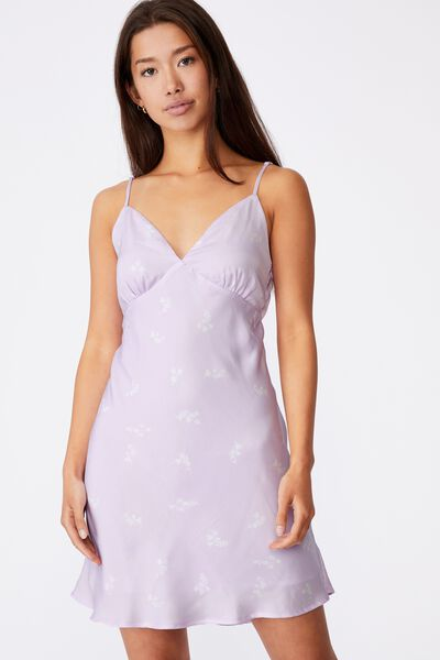 Tie Back Party Dress, THEA FLORAL ORCHID BLOOM