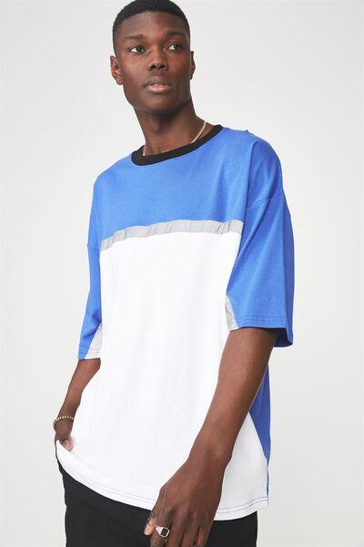 Reflector Block T Shirt, DAZZLING BLUE