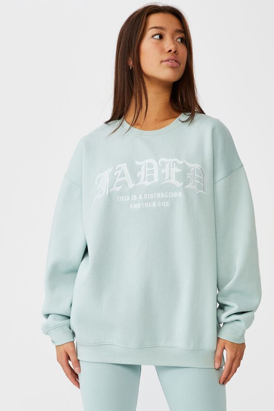 Oversized Graphic Crew, ETHER/FADED