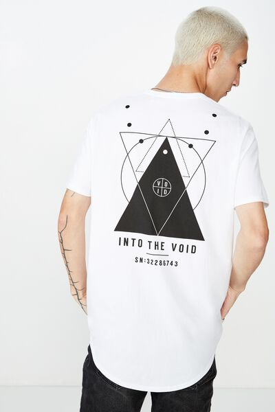 Curved Graphic T Shirt, WHITE/INTO THE VOID