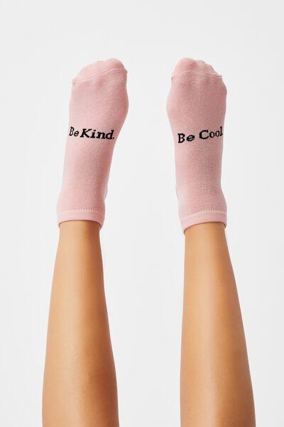 Anklet Original Sock, SILVER PINK BE COOL