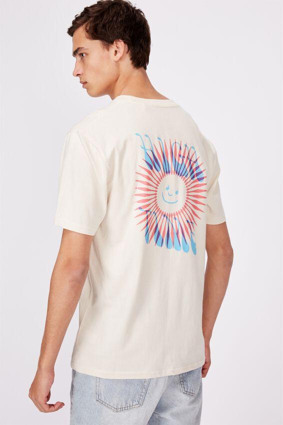 Regular Graphic T Shirt, IVORY/HIGH TIME