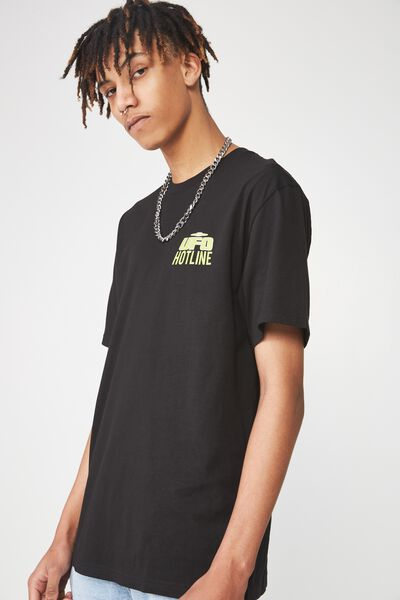 Graphic T Shirt, BLACK/UFO HOTLINE