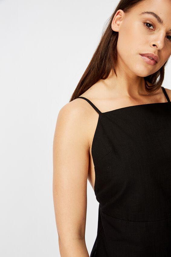 Strappy Mini Dress, BLACK