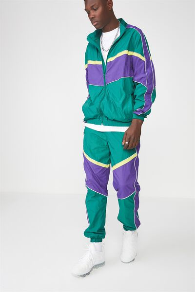 Shell Track Pants, EVERGREEN SPLICE