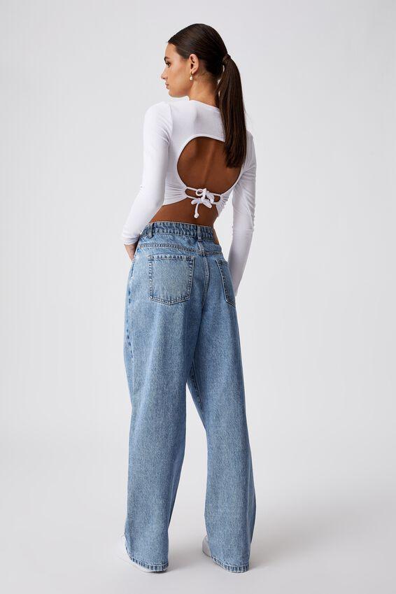 High Rise Baggy Jean, CLASSIC BLUE PLEAT